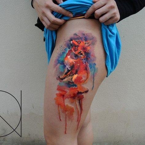 #ondrash #watercolor #fox tattoo