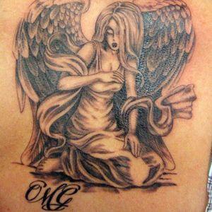 #angel #blackandgrey #religious #religioustattoo