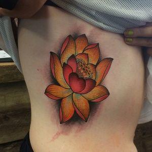 Lotus made at Love Hate Cork #lotus #flower #tattoo #amijames #lovehatesocialclub #lovehatecork