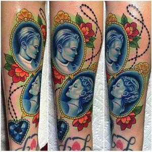 A Titanic themed cameo tattoo I made at Grit N' Glory. #jackdawson #leo #rose #katewinslet #titanic #heartoftheocean #tattoo #meganmassacre #gritnglory