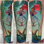 Disney's Haunted Mansion tattoo I made at Grit N' Glory. #disney #hauntedmansion #tattoo #meganmassacre #gritnglory