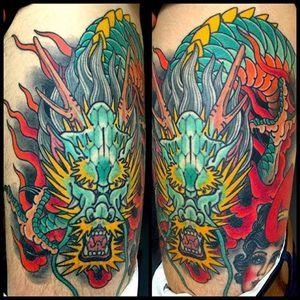 Healed Dragon on Phil #dragon #japanesetattoo ##mikerubendall #kingsavenue #kingsave
