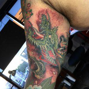 a #dragontattoo by danhvu_baangbaang #tattoo #tattooart #japanesetattoo #asiantattoo #asianart #bensonhurst #brooklyn #inkman_tattoo #danhvu