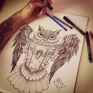 #tattooart #artshare #owl #moth