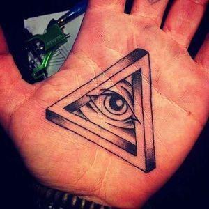 #palmtattoo #handtattoo #allseeingeye #eye