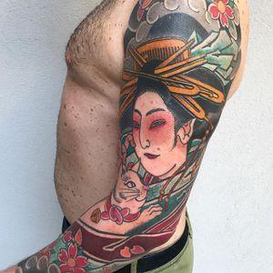#japanese #Tattoodo #geisha #color