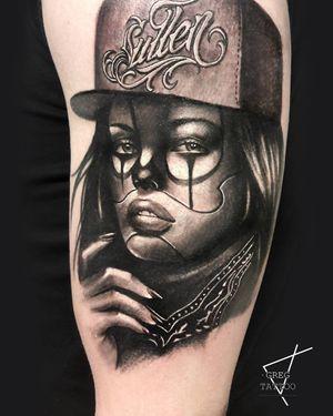 #chicano #chicanotattoo #portrait #blackandgrey