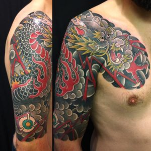 Cover-up dragon finished! #dragon #japanese #kanae