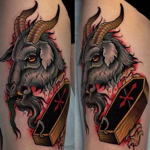 #goat #coffin #amptattoo