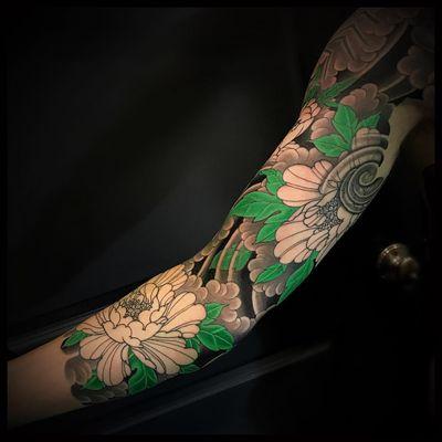 In-progress #peony sleeve