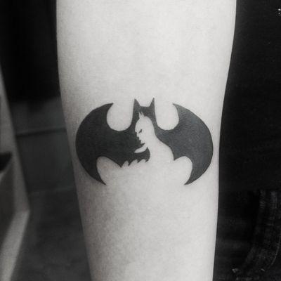 Batman #batmantattoo #Black #blackink #dc #DCTattoos #dccomics #stencilstuff #zambamachines #artfusion