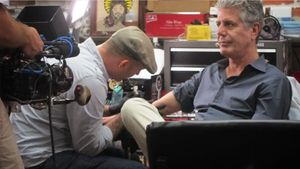 Chris Garver tattooing Anthony Bourdain on Miami Ink #AnthonyBourdain #ChrisGarver #MiamiInk