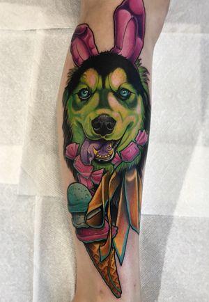 Puppy done at Killjoy tattoo in Akron