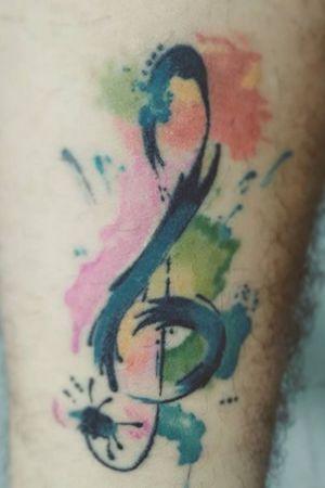 #musictattoo #acuarelatattoo