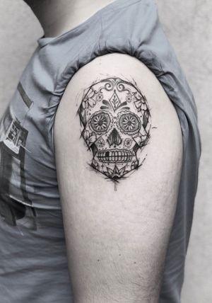 Candy skull sketch