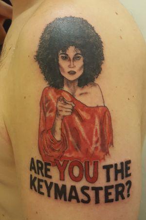 Cartoon style Sigourney Weaver #Ghostbusters #Ghostbusterstattoo #tattooofday