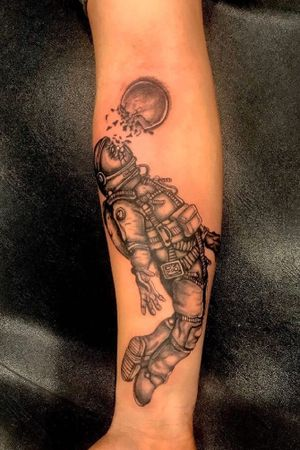 Astronaut tattoo on my client
