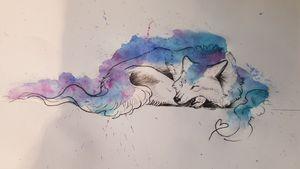 Galaxy wolf/ sleeping wolf