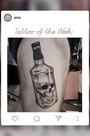 #uktta #tatoooftheweek #bottelofskull #bottletatoo #skulltatoo