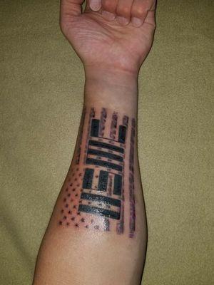 USMC Flag Tattoo