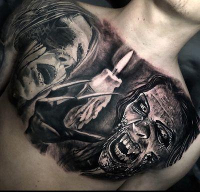 Completed this today #vampire #tattoo #tattoos #tattooartist #BishopRotary #BishopBrigade #BlackandGreytattoo #QuantumInk #ImmortalAlliance #SullenClothing #SullenArtCollective #Sullen #SullenFamily #TogetherWeRise #ArronRaw #RawTattoo #TattooLand #InkedMag #Inksav#BlackandGraytattoo #tattoodoapp #tattoodo