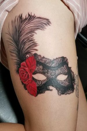 #mask #masks #rose #feather #lace #lacetattoo