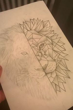 #leon #tattoo #geometrictattoo #arte #disegno