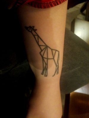 Geometric giraffe #animals #giraffe #geometric #linedrawing #blackAndWhite