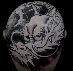 By Horimasa Tosui #japanese #dragon #blackandgrey