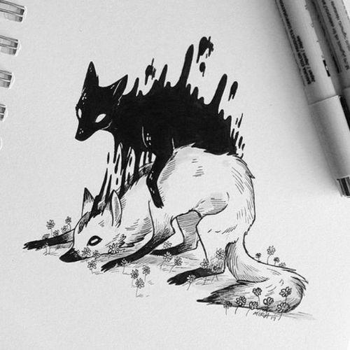 #demonic #fox #spirit #nature #dark