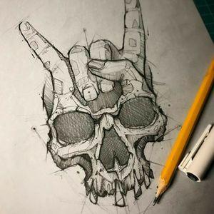 #skull #rockandroll #skullandhand