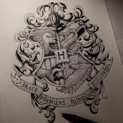 #hp #hogwarts #harrypotter #harrypottertattoo #HarryPotterTattoos #besttattoos #jkrowling