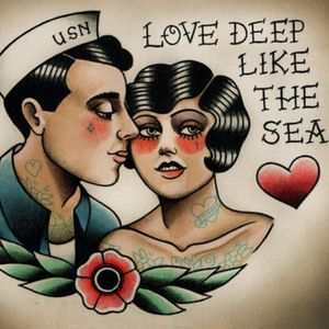 #love #traditional #oldschool #navy #romantic #love