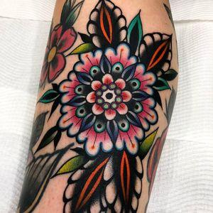 Beautiful mandala inspired flower by Kirk Jones #flower #mandala #traditional #kirkjones