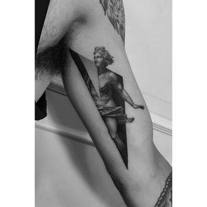 Apollo by Pawel Indulski #apollo #blackandgrey #greekmythology #statue #geometric #pawelindulski