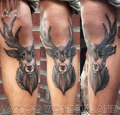 #geometric #stagtattoo for @jassonmatteo by @danleytattoos @tattoowonderland #youbelongattattoowonderland #tattoowonderland #brooklyn #brooklyntattooshop #bensonhurst #midwood #gravesend #newyork #newyorkcity #nyc #tattooshop #tattoostudio #tattooparlor #tattooparlour #customtattoo #brooklyntattooartist #tattoo #tattoos #stag #geometrictattoo