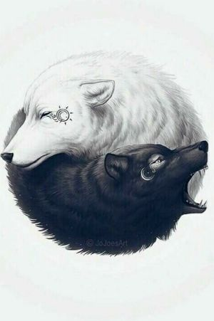 #yinyang #wolf #wolves #nightandday