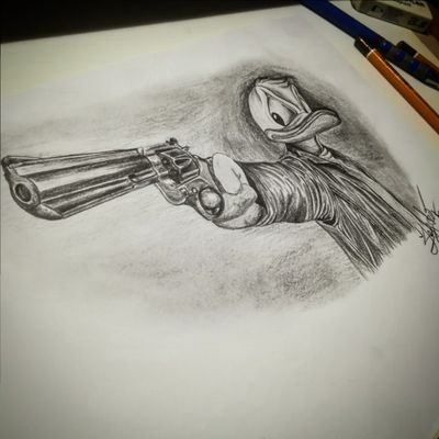 ✏️✏️✏️📝📝🖍️🖌️ #donaldduckdraw #waltdisney #donaldduck #cartoon #draw #drawing #art #kakosezovepatkasapištoljemPUČE