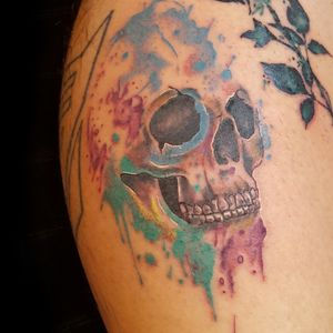 Watercolor Skull Tattoo ➕➕
