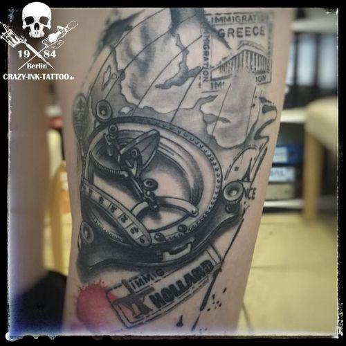 Schönes Wochenende, mal was abgeheiltes #healedtattoo , #traveltattoo ⠀⠀⠀⠀⠀ . Infos wie immer 017627112764 auch WhatsApp...⠀⠀ . http://crazy-ink-tattoo.de . http://facebook.com/crazy.ink.tattoo.berlin . http://instagram.com/crazy.ink.tattoo.berlin . . . . . #tattoo #tattoos #berlin #tattooberlin #berlintattoo #tattoomoabit #crazyink #crazyinkberlin #crazyinktattoo #crazyinktattooberlin . #blackngrey  #tattooed #tattoist #girlswithtattoo #bodyart #berlintattooartist #berlintattooartists #classpen #worldfamousink #kwadron  #realistictattoo #blackandgreytattoo #timelesstattoo #legtattoo #maptattoo #sextanttattoo