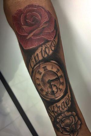 #rosetattoo #watchtattoo #tatuadoresmexicanos