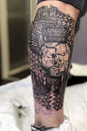 Blackwerk ancient pattern soccer futbol petra jordan tattoo