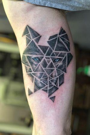 Stippling dotwork blackwerk wolf