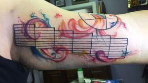 Photography aperture watercolor tattoo