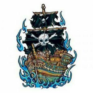 #boattattoo #boat #blackflag #skull #pirata