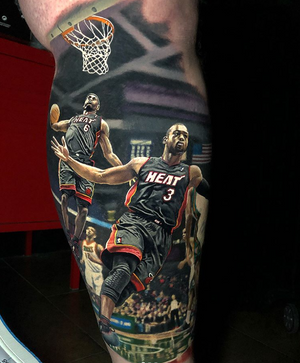 By Steve Butcher #wadetolebron #realism #color #basketball