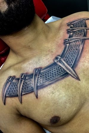 Black Panther Chest Piece. Black and Gray