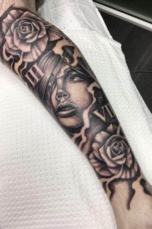 Black and Gray leg sleeve