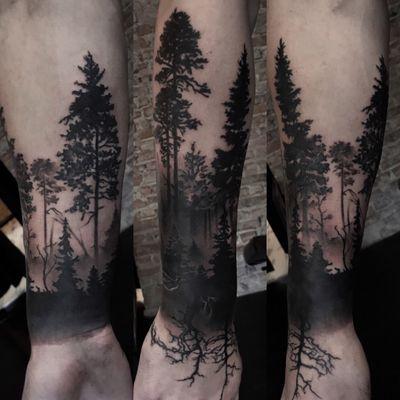@bgreytattoo #forest #foresttattoo #oslo #norway