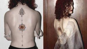 #TattooGirl #tattooed #flowertattoo #mandalatattoo #mandala #womenwihtattoos #womentattoo #tattooedgirls #lineworktattoo
